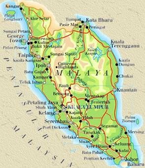 Langkawi malaysia karte landkarte städte länder flüsse
